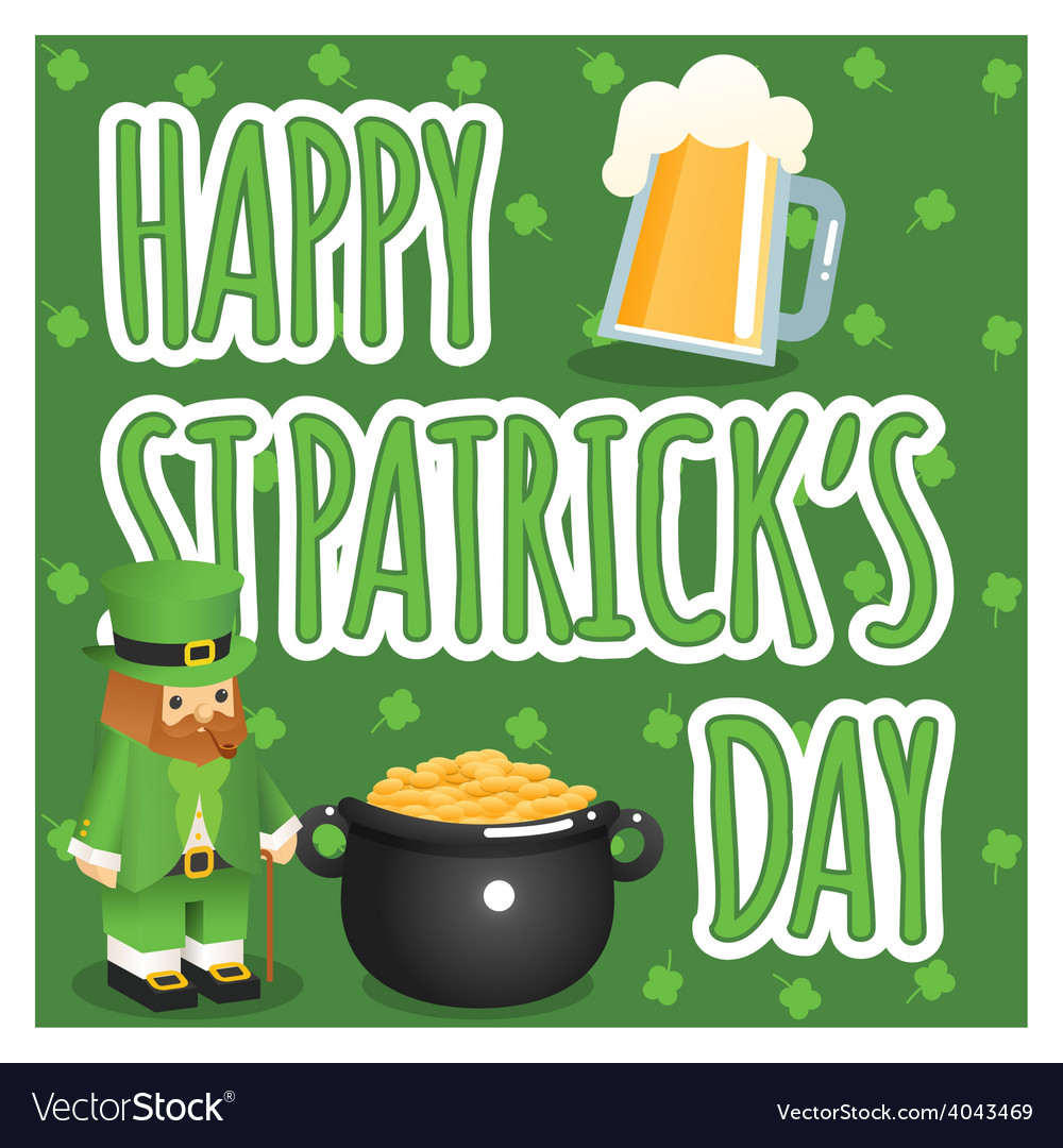 St patricks day poster vector | Price: 1 Credit (USD $1)