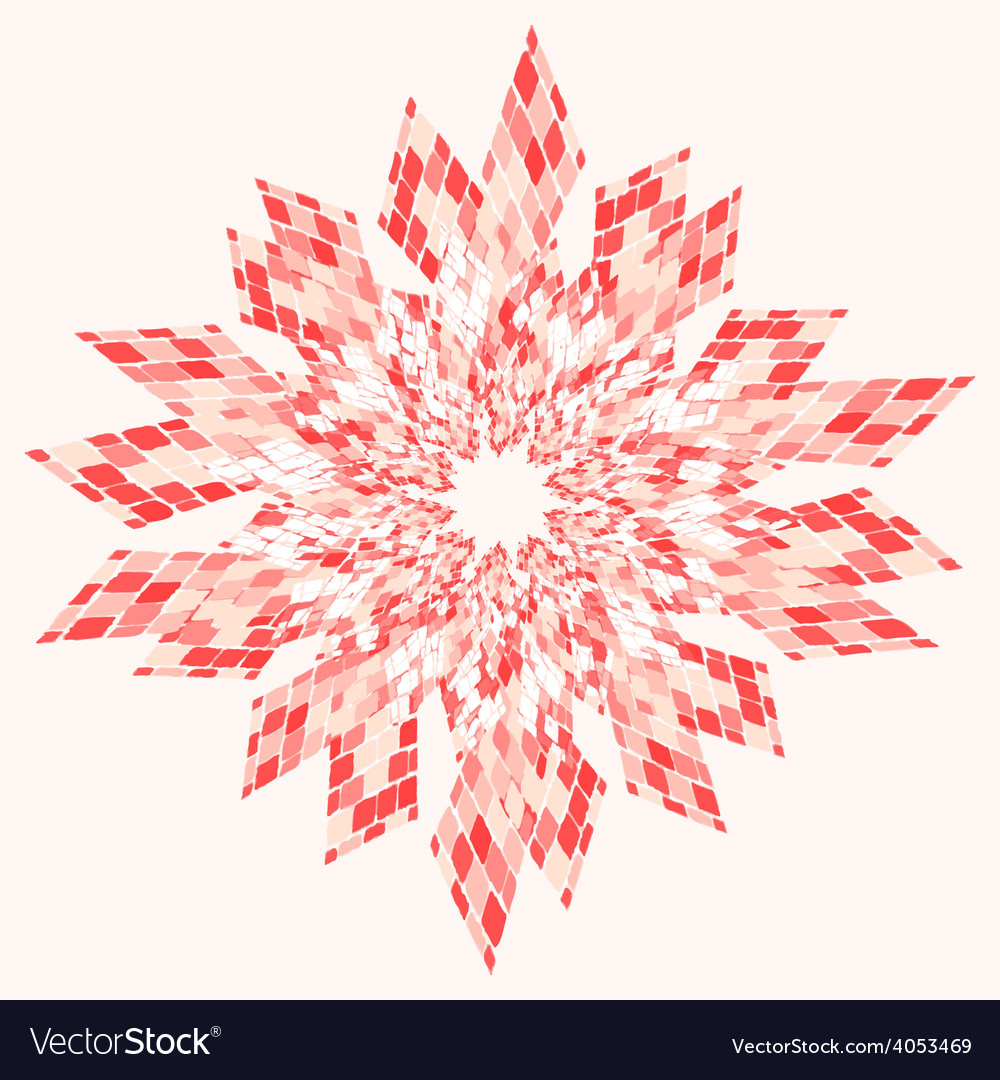 Star abstract pink vector | Price: 1 Credit (USD $1)