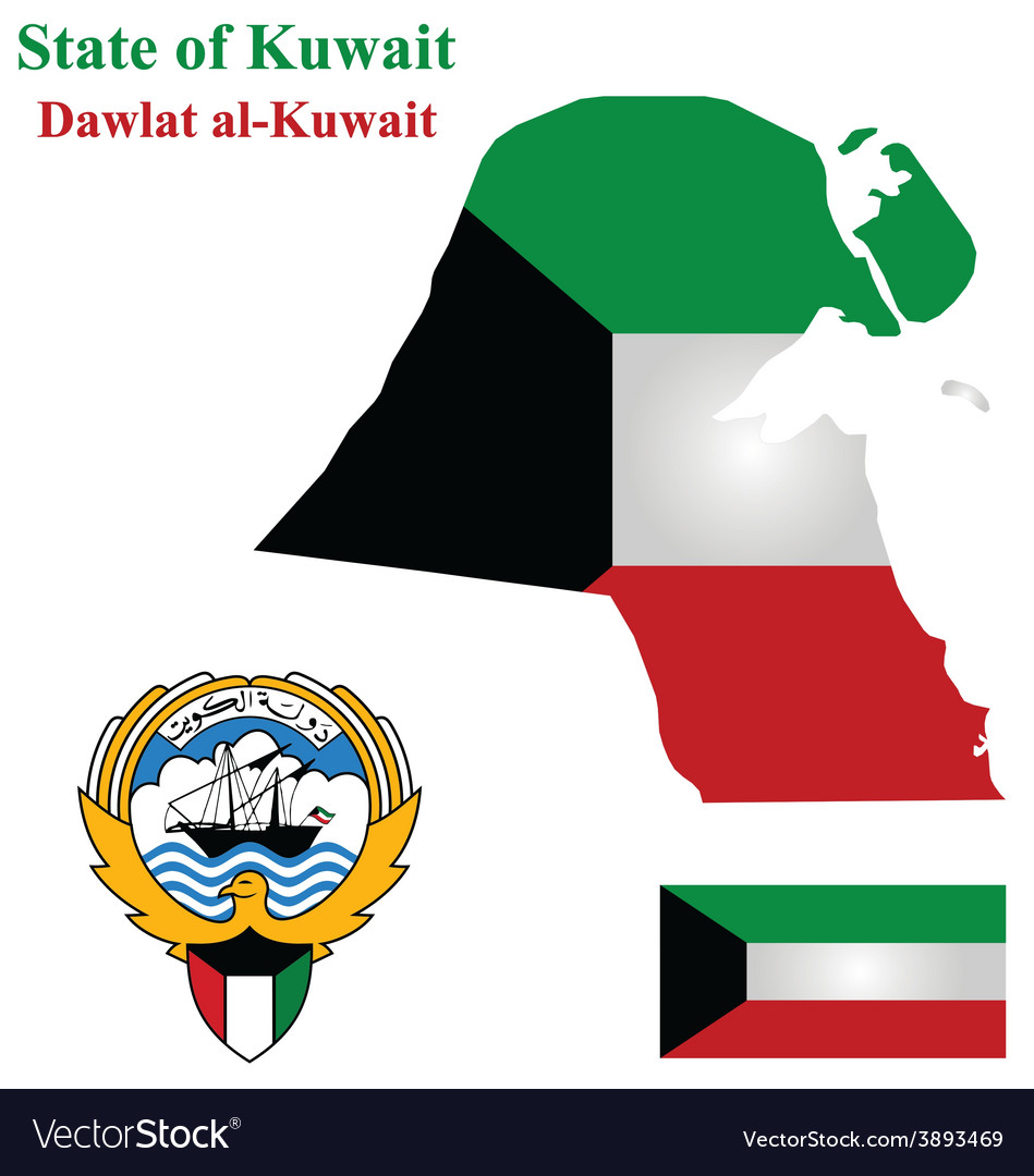 State of kuwait vector | Price: 1 Credit (USD $1)