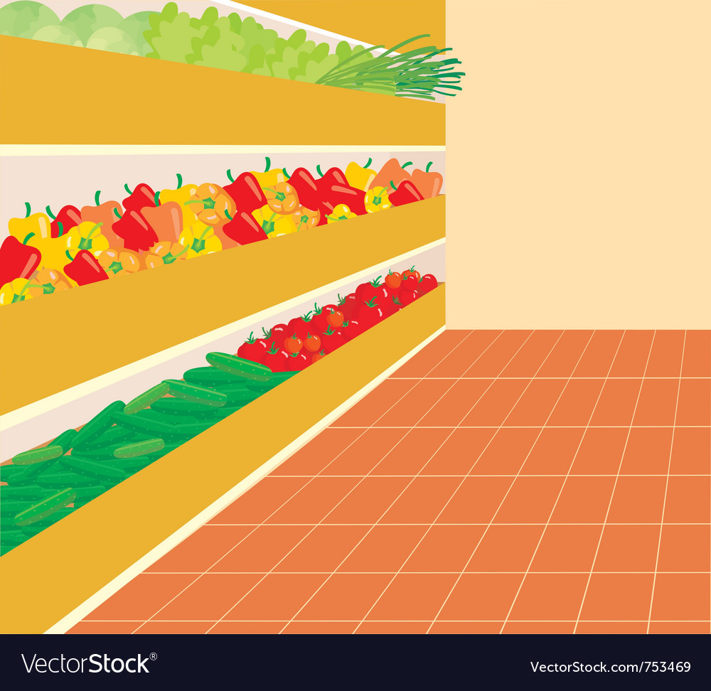 Supermarket vector | Price: 1 Credit (USD $1)