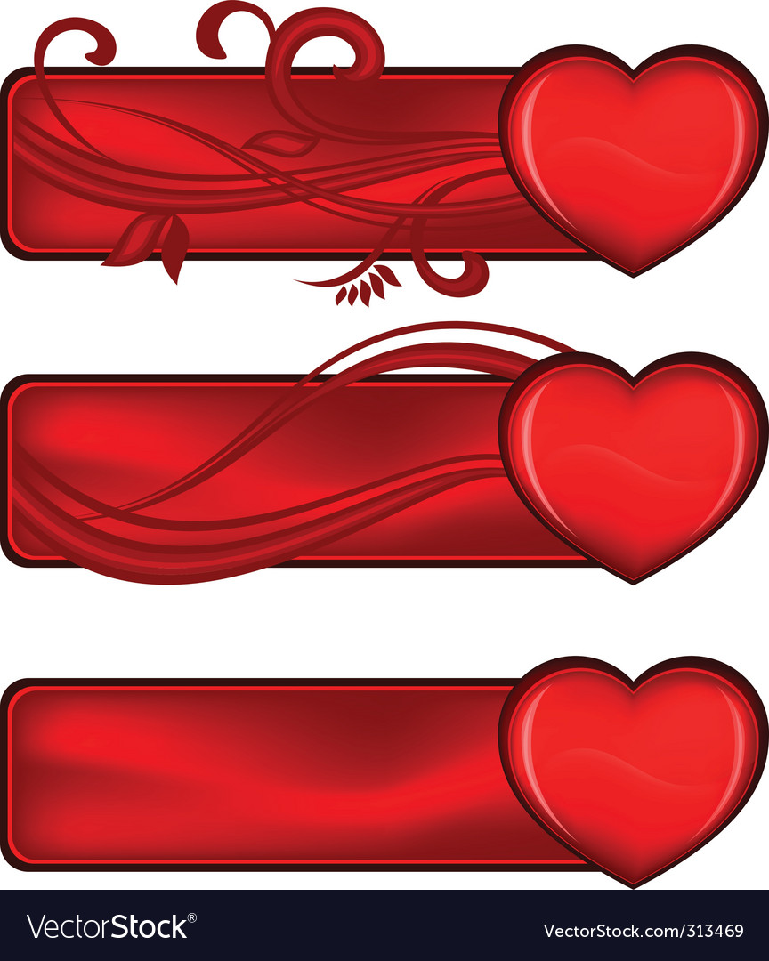 Valentines banner vector | Price: 3 Credit (USD $3)