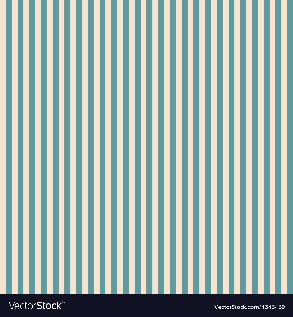 Vintage blue and beige striped seamless pattern vector