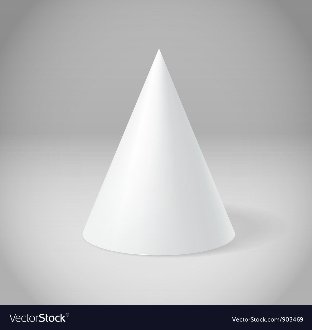 White cone vector | Price: 1 Credit (USD $1)