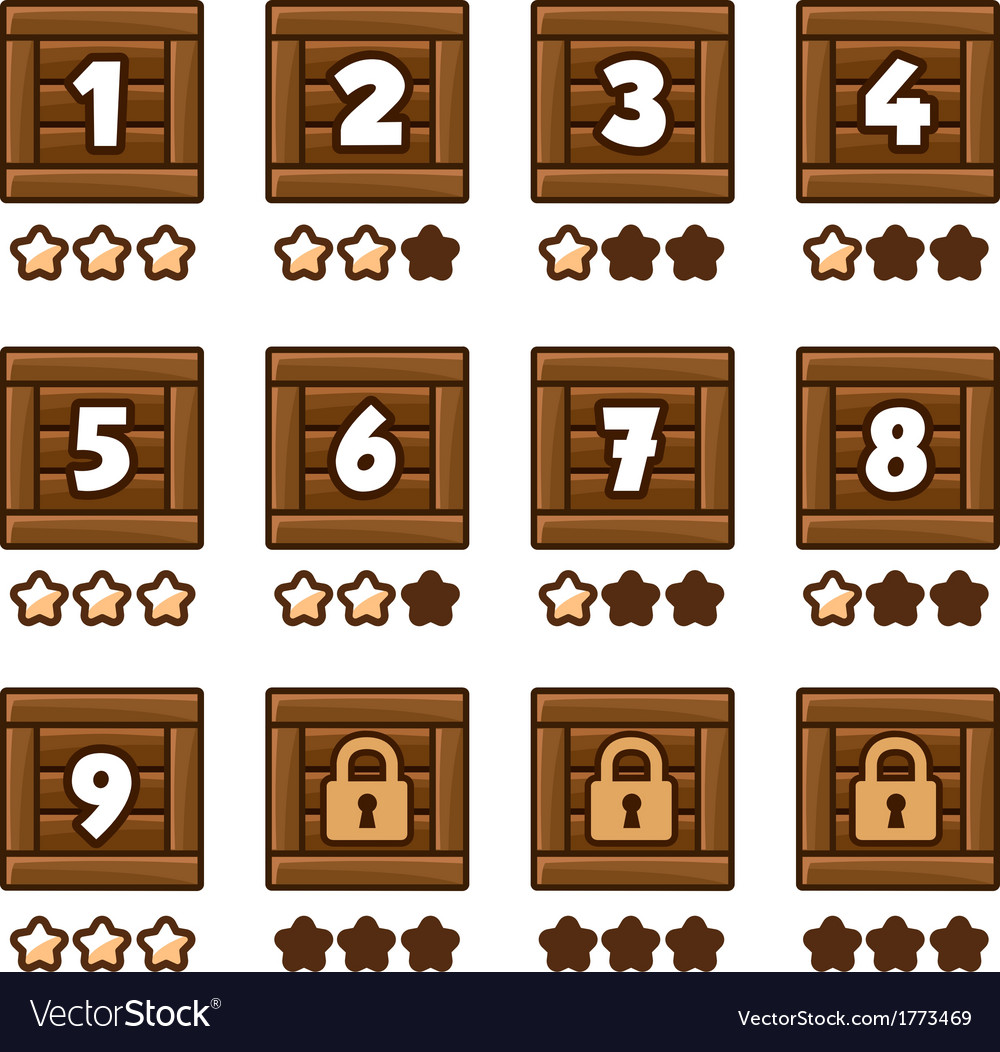 Wooden level selection 2 vector | Price: 1 Credit (USD $1)