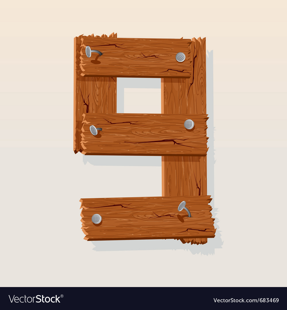 Wooden type 9 vector   Price: 1 Credit (USD $1)