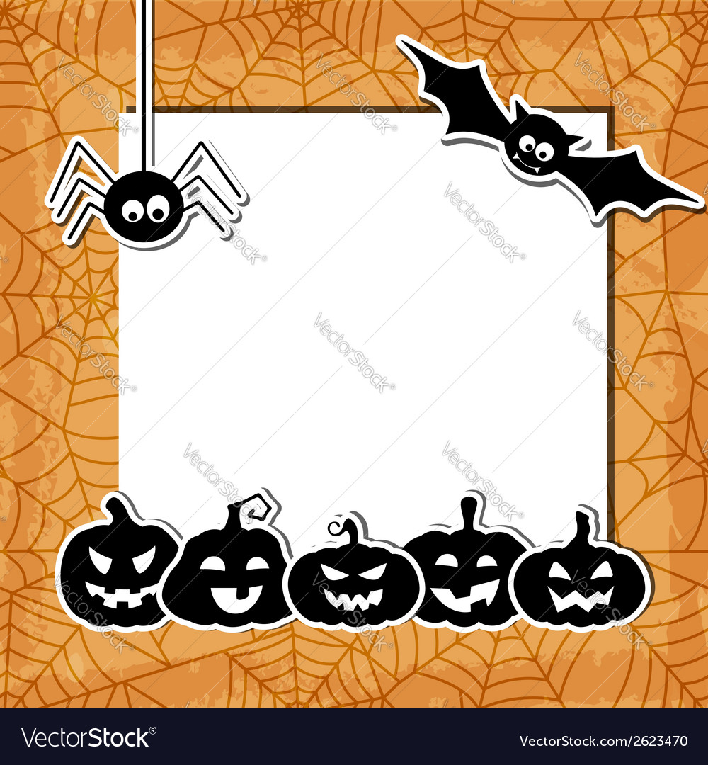 Halloween grunge background with black pumpkins vector | Price: 1 Credit (USD $1)