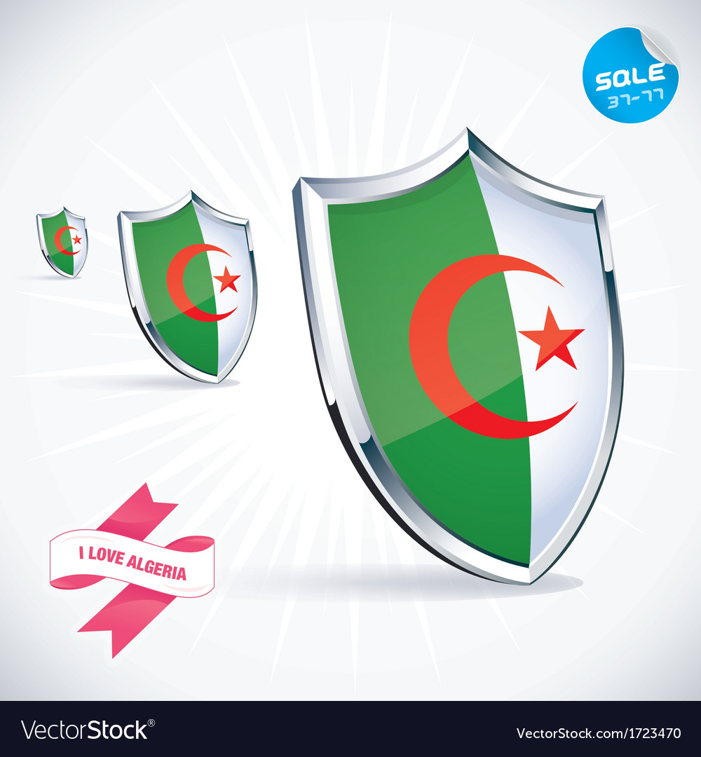 I love algeria flag vector | Price: 1 Credit (USD $1)