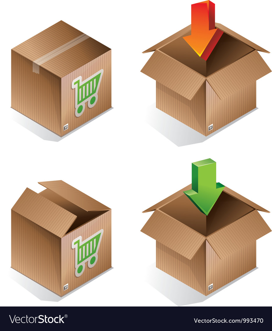Icon of shipping box vector | Price: 1 Credit (USD $1)