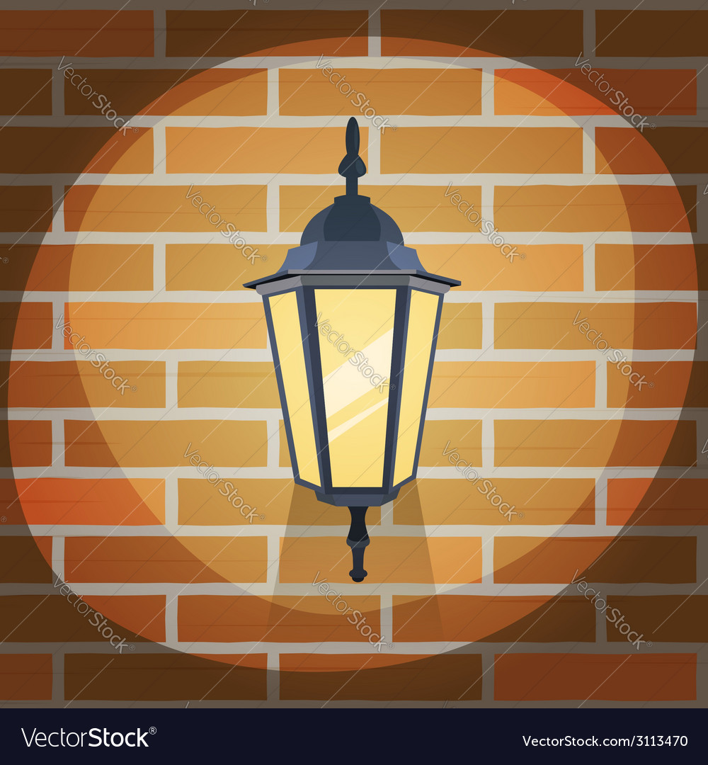 Lantern on the wall vector | Price: 1 Credit (USD $1)