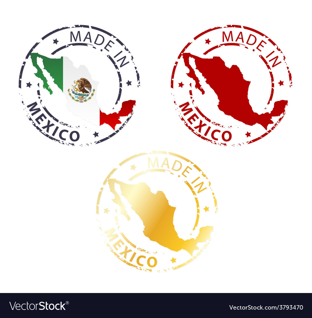 Made in mexico stamp vector   Price: 1 Credit (USD $1)
