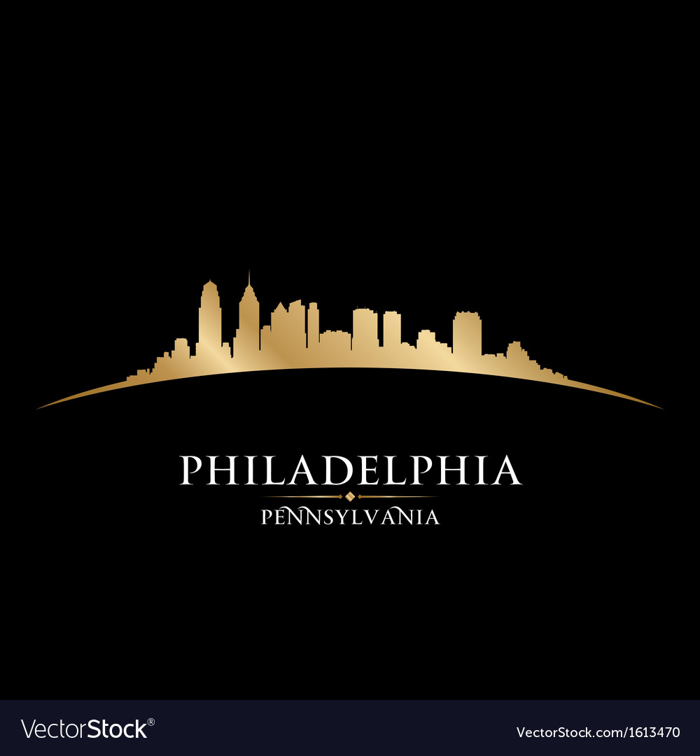 Philadelphia pennsylvania city skyline silhouette vector | Price: 1 Credit (USD $1)