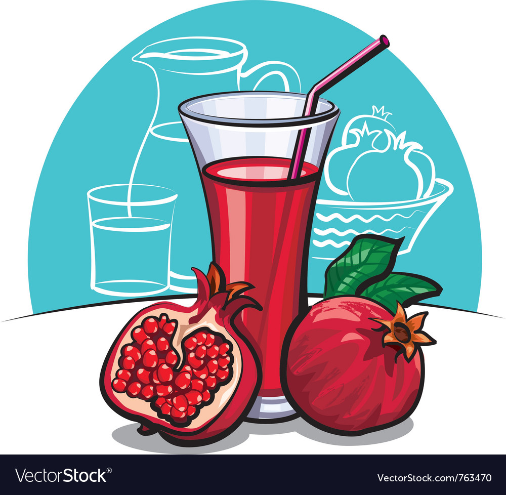 Pomegranate juice vector | Price: 3 Credit (USD $3)