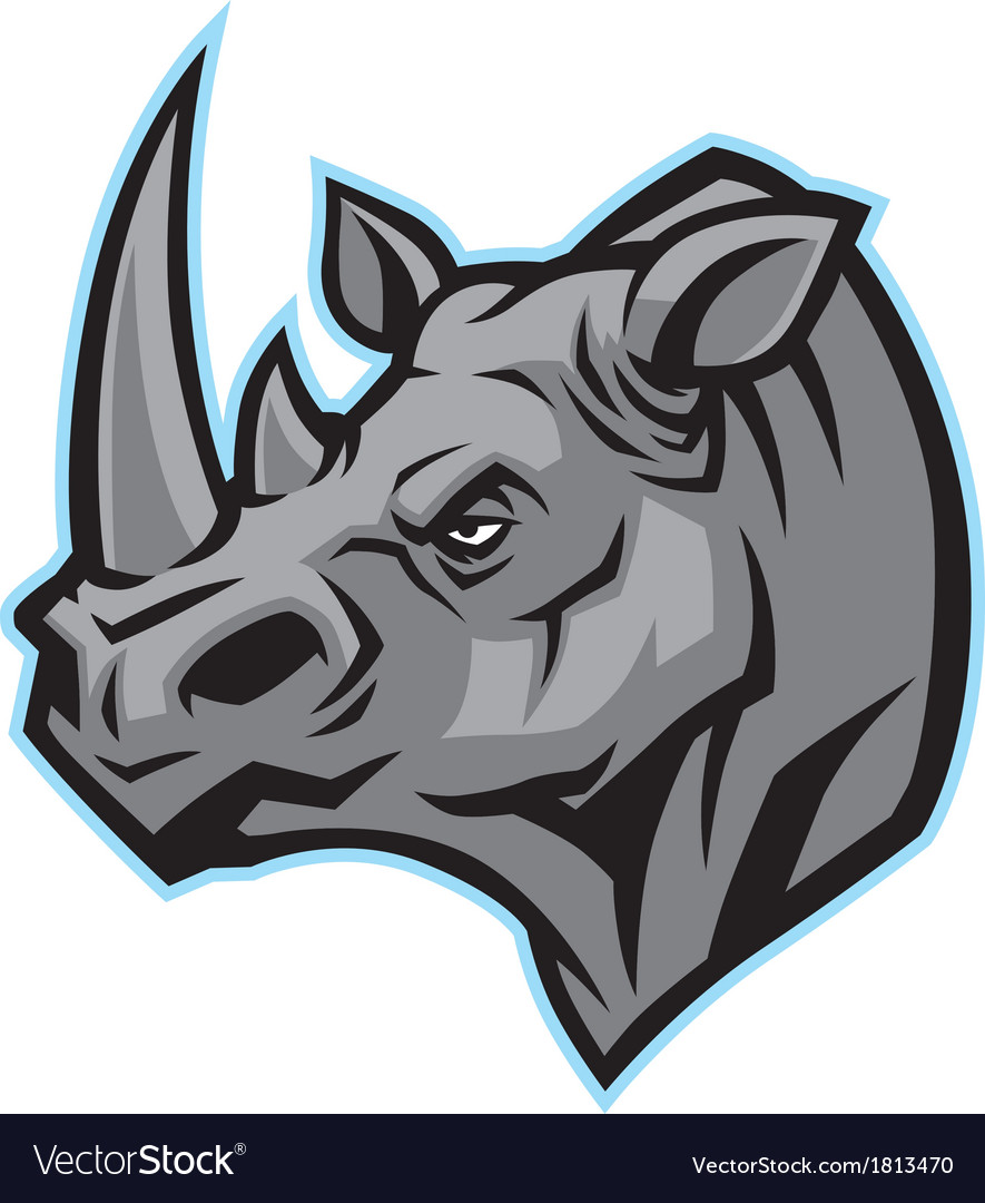 Rhino head mascot vector | Price: 1 Credit (USD $1)