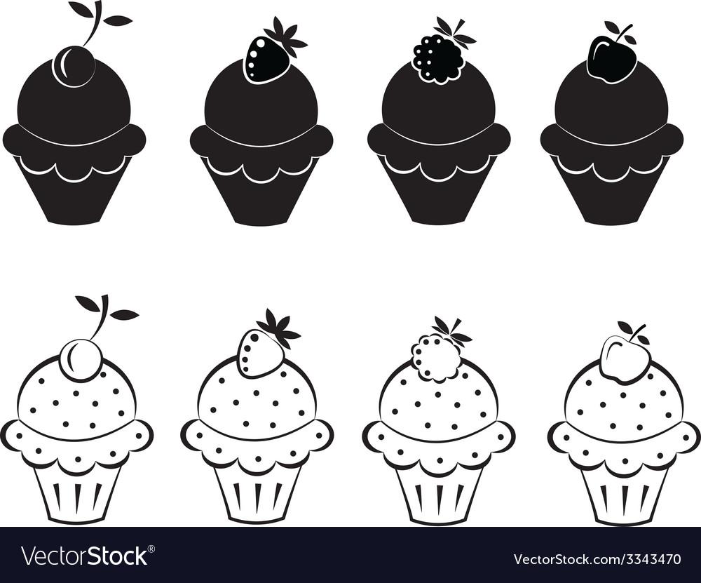 Set of ice cream icons vector | Price: 1 Credit (USD $1)