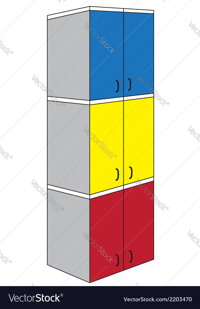 Tri color triple wardrobe vector | Price: 1 Credit (USD $1)