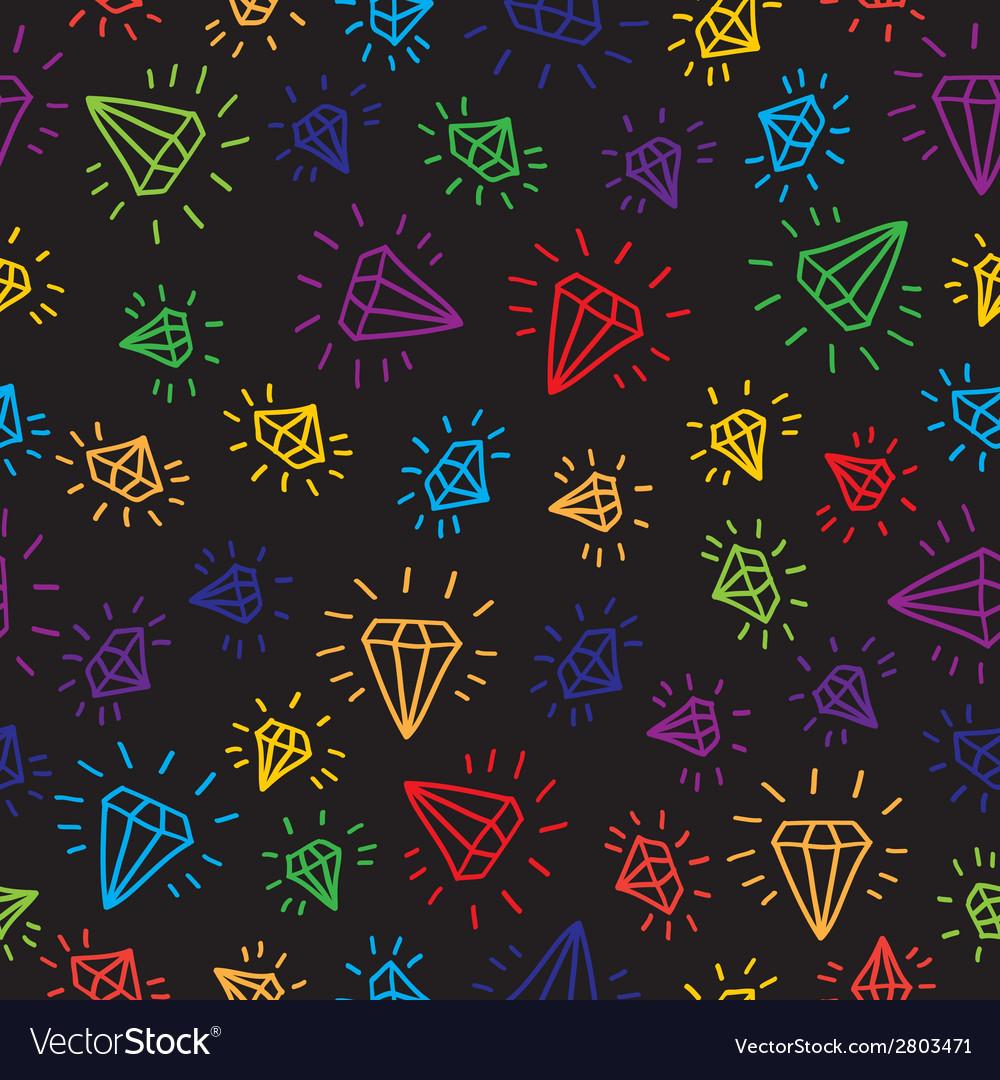 Cartoon diamond seamless background template for vector | Price: 1 Credit (USD $1)