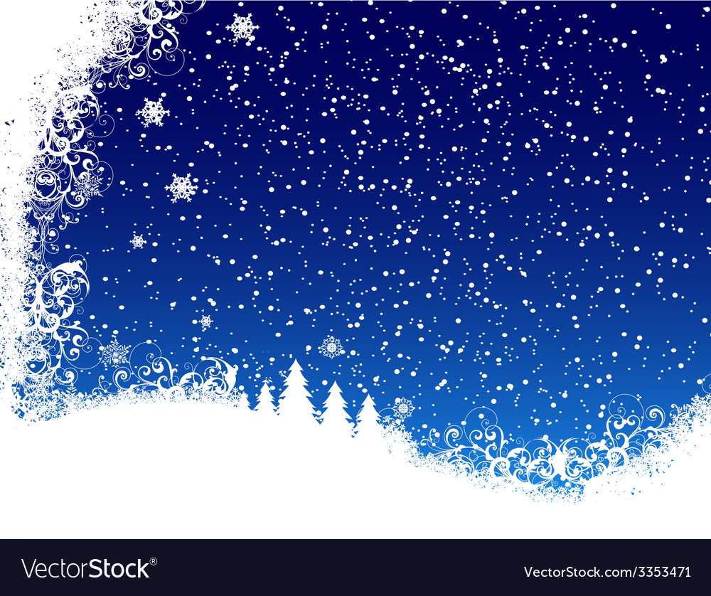 Christmas blue background from snow vector | Price: 1 Credit (USD $1)