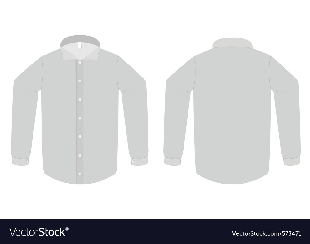 Dress shirt or blouse template vector | Price: 1 Credit (USD $1)