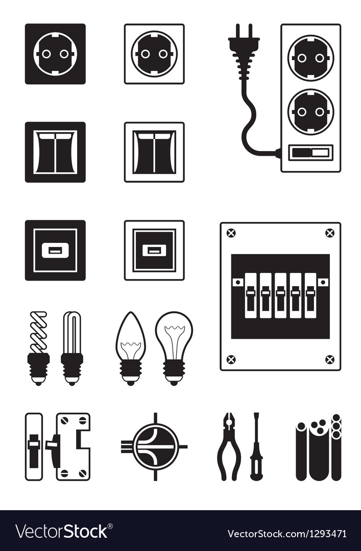 Electrical network devices vector | Price: 1 Credit (USD $1)