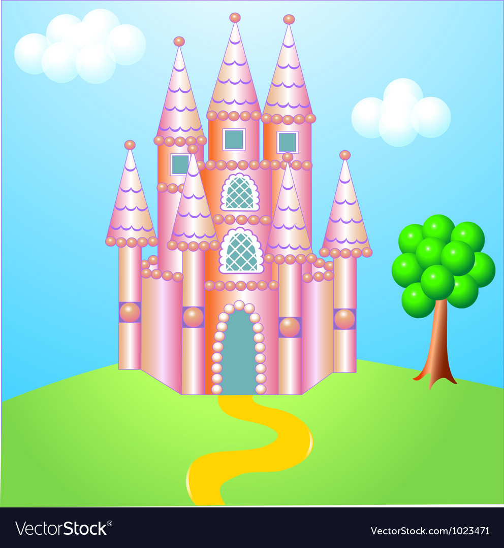 Fantasy castle vector | Price: 1 Credit (USD $1)