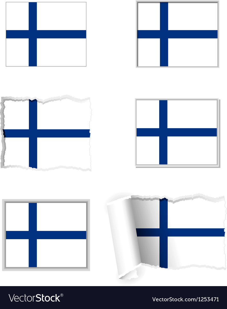 Finland flag set vector | Price: 1 Credit (USD $1)