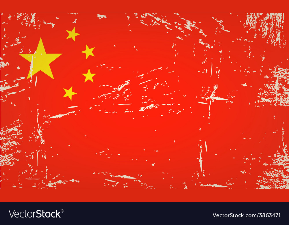 Flag china vector | Price: 1 Credit (USD $1)