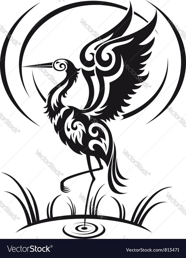Heron bird vector   Price: 1 Credit (USD $1)