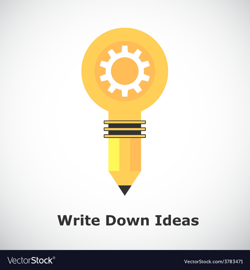 Idea concept on gradient background vector | Price: 1 Credit (USD $1)