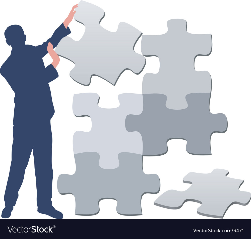 Jigsaw puzzle pieces background vector | Price: 1 Credit (USD $1)