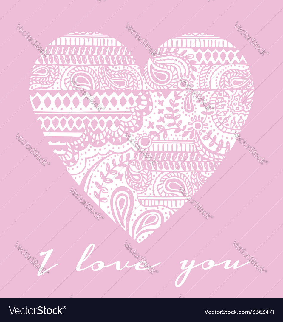 Love you carved heart vector | Price: 1 Credit (USD $1)