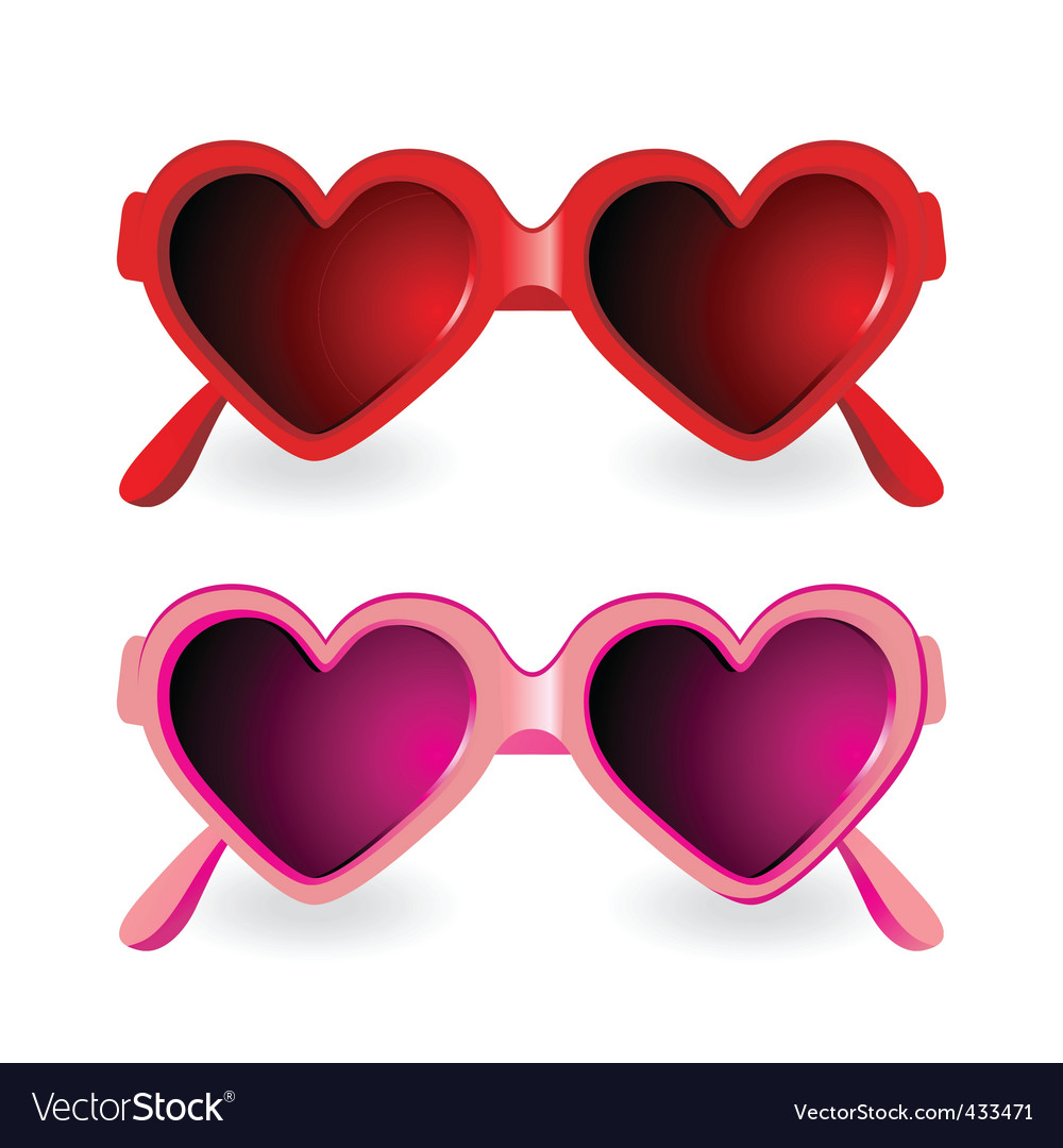 Sunglasses heart shape vector | Price: 1 Credit (USD $1)