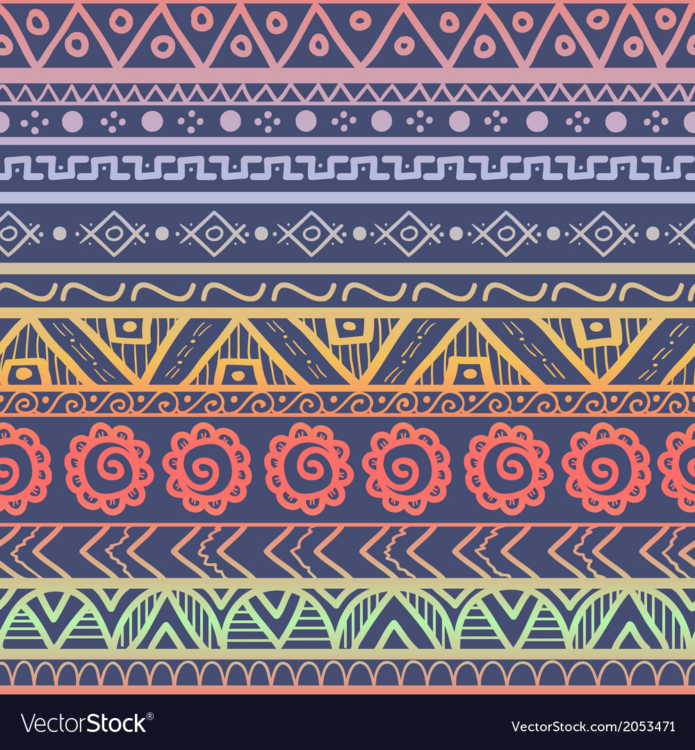 Tribal striped seamless pattern vector | Price: 1 Credit (USD $1)