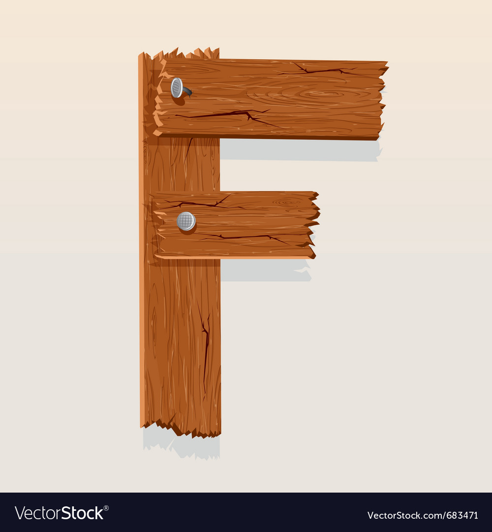 Wooden letter f vector | Price: 1 Credit (USD $1)
