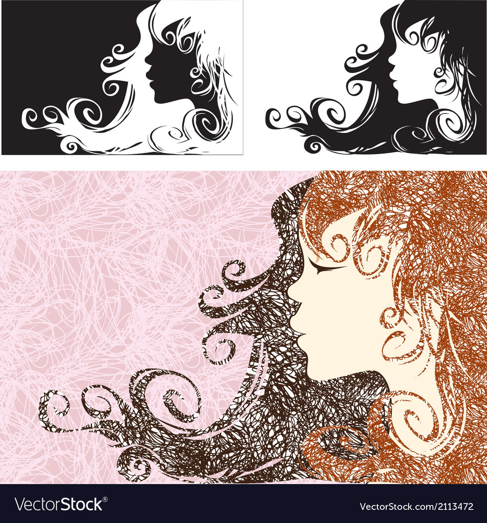 Abstract girl vector | Price: 1 Credit (USD $1)