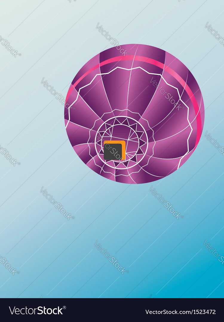 Air balloon bottom view vector | Price: 1 Credit (USD $1)