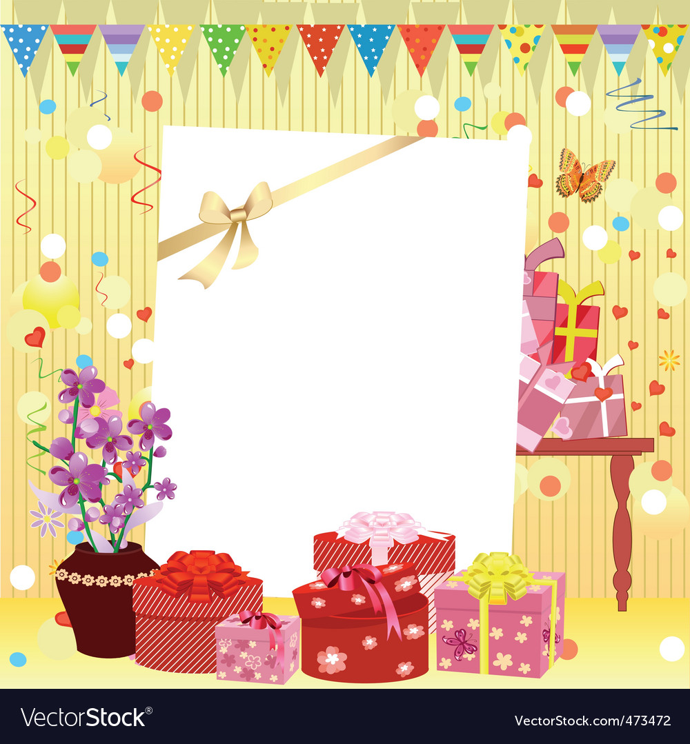 Birthday invitation vector | Price: 1 Credit (USD $1)