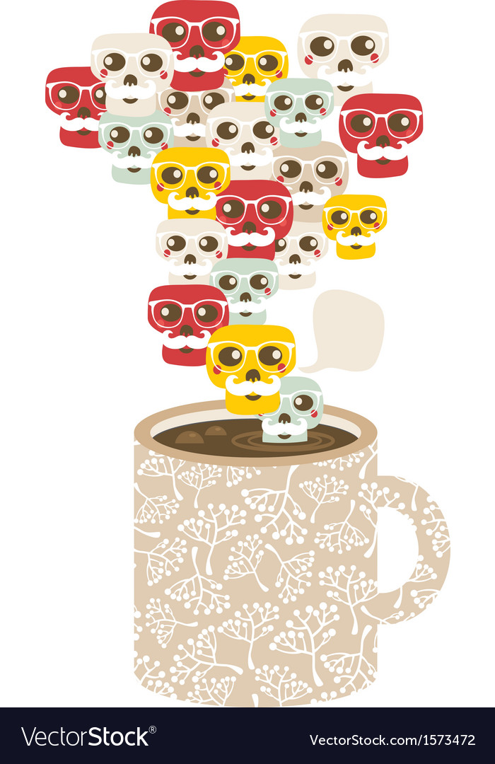 Cup with the smog of skulls vector | Price: 1 Credit (USD $1)