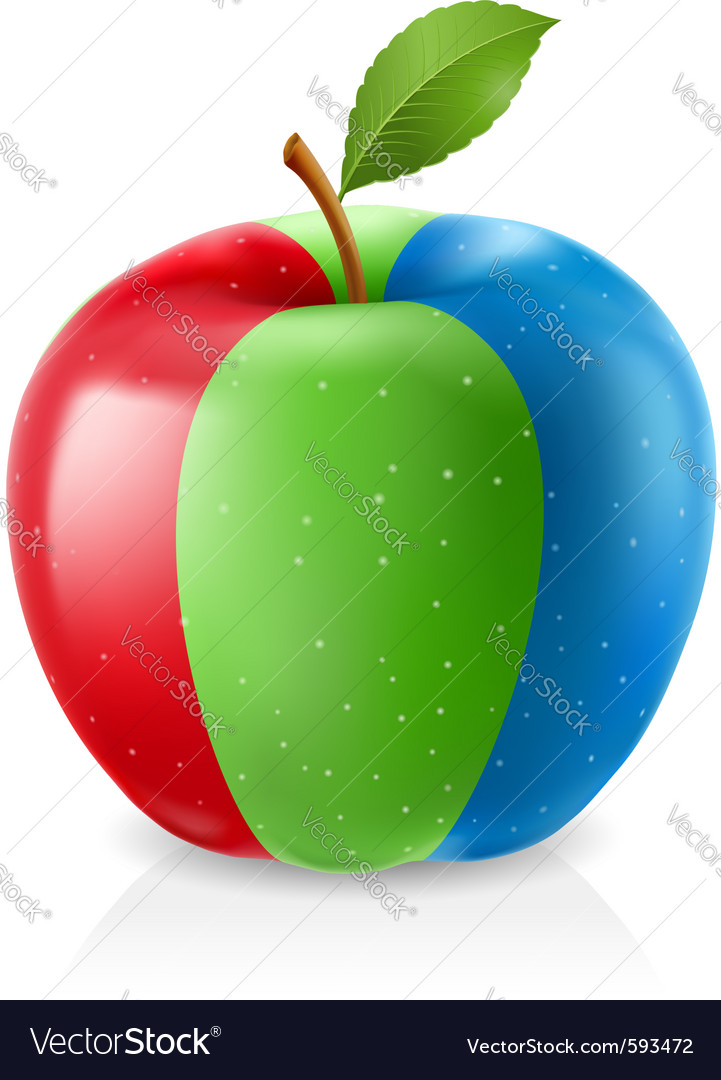 Delicious rgb apple vector | Price: 1 Credit (USD $1)