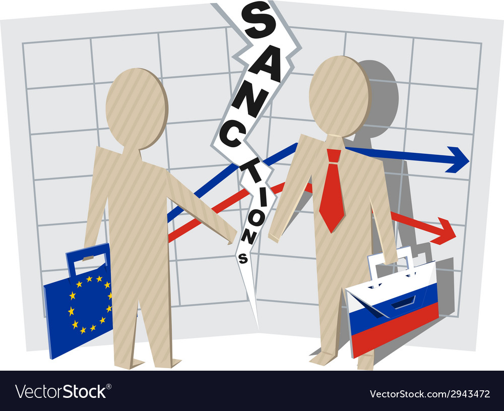 Europe sanctions against russia vector | Price: 1 Credit (USD $1)