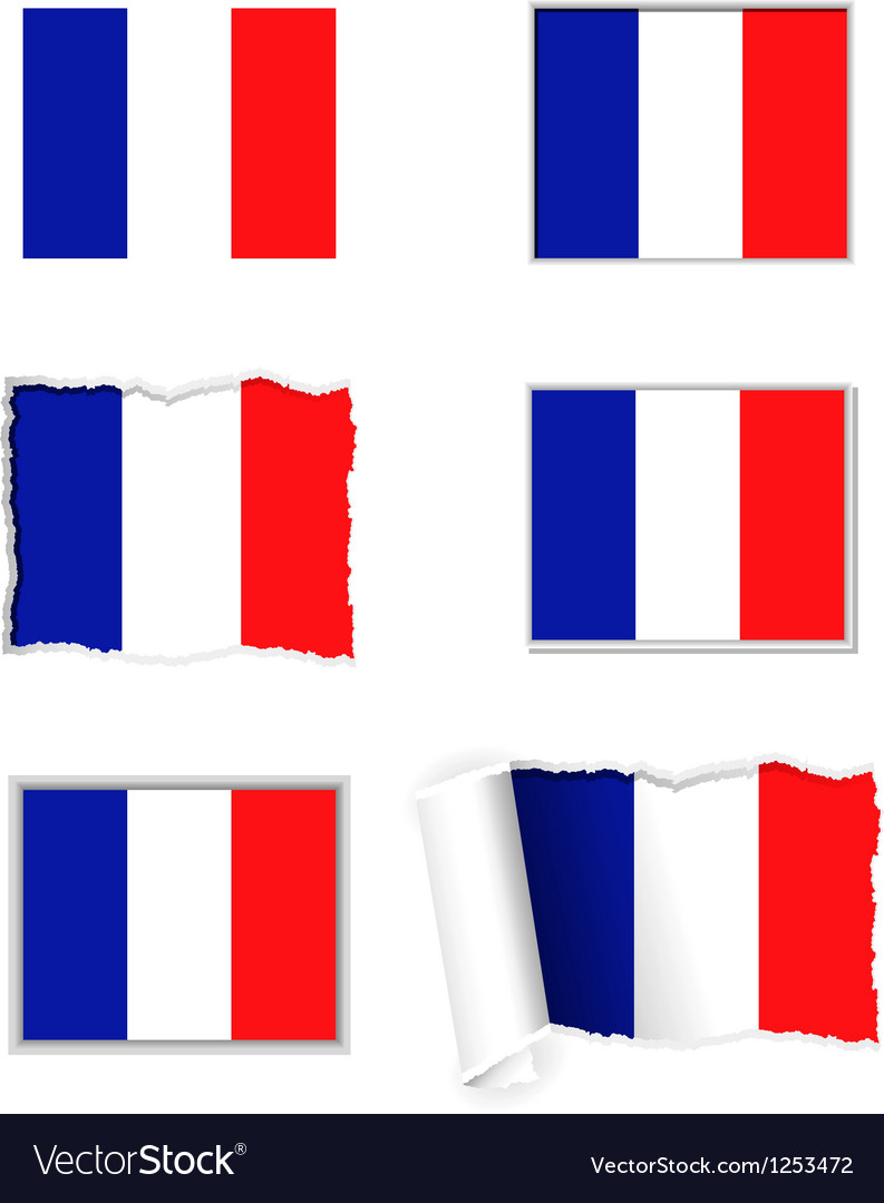 France flag set vector | Price: 1 Credit (USD $1)