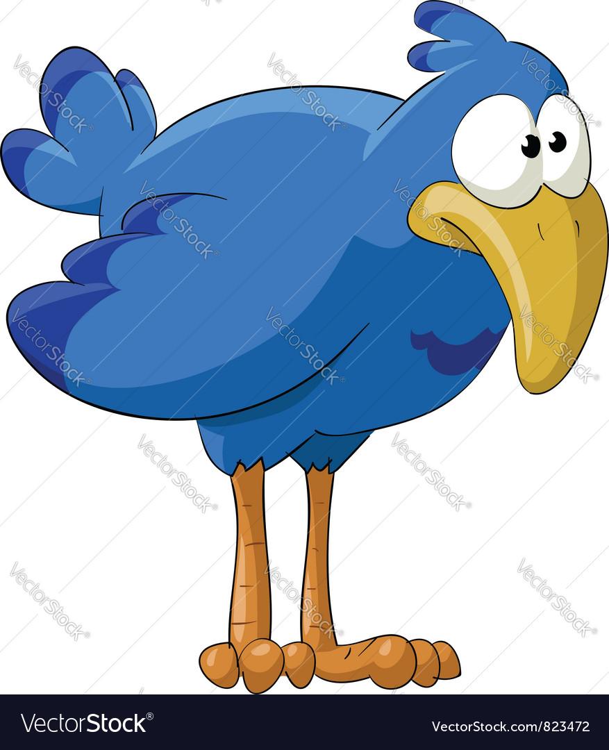 Fun bluebird vector | Price: 3 Credit (USD $3)