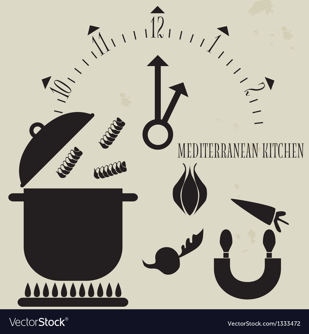 Mediterranean cuisine vector | Price: 1 Credit (USD $1)