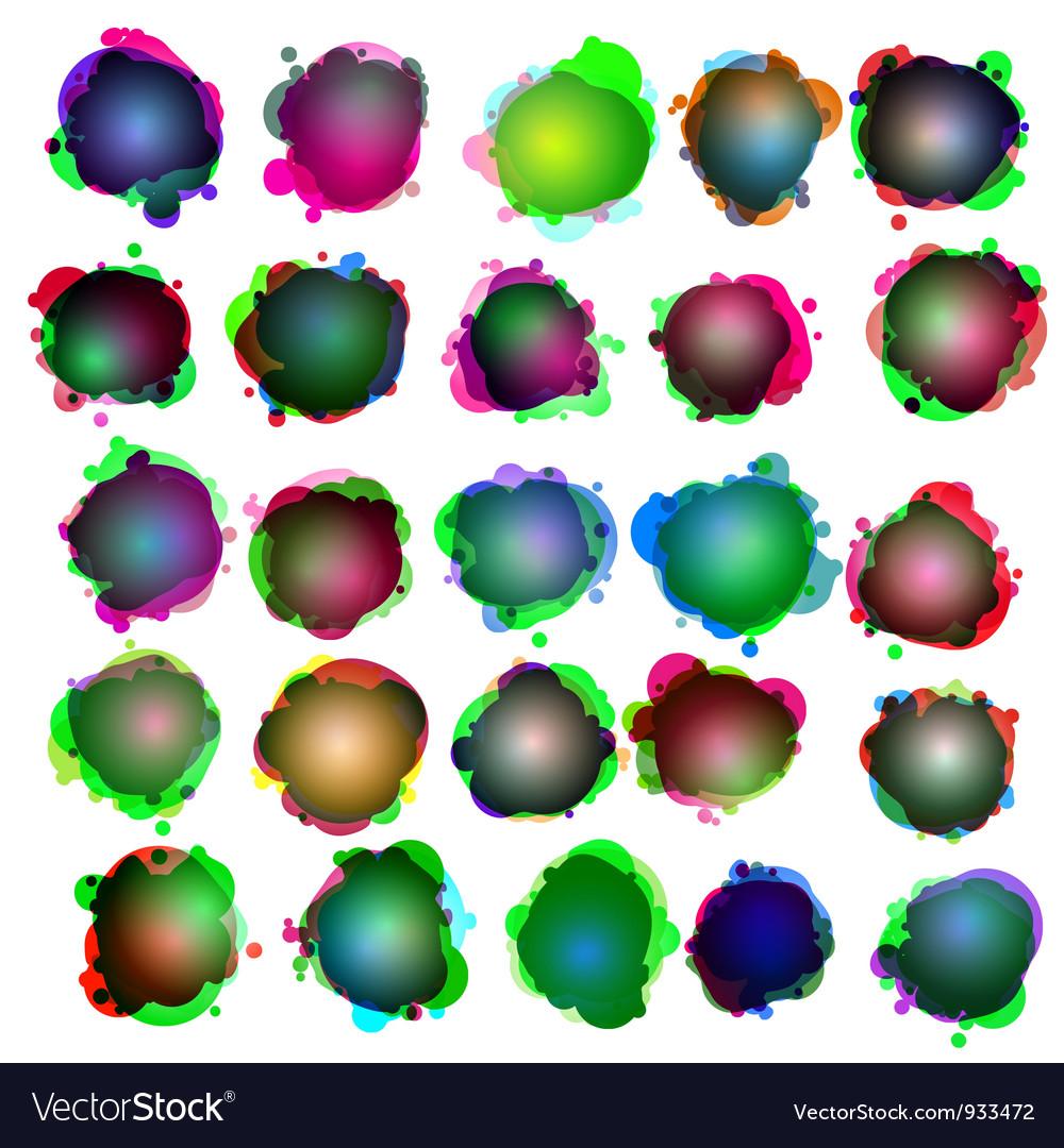 Speech bubbles icon set vector | Price: 1 Credit (USD $1)