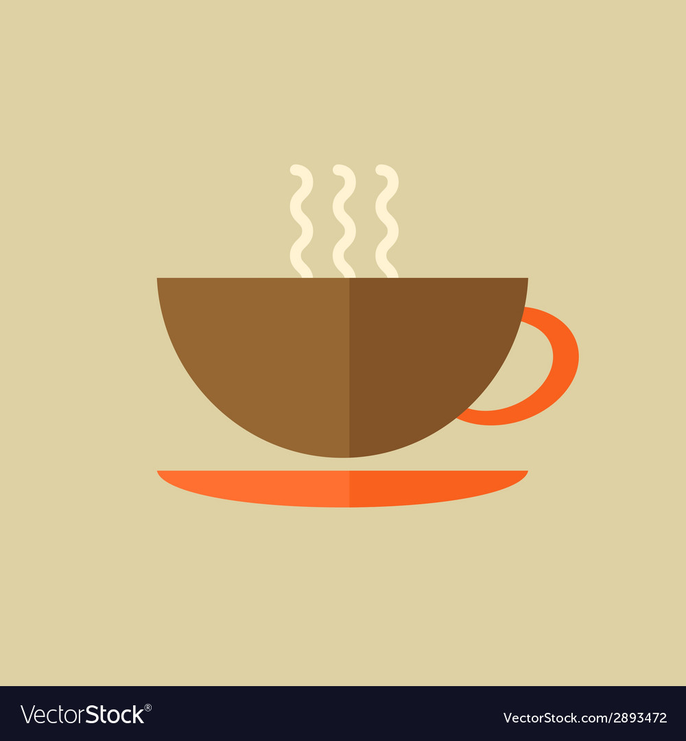 Tea drink flat icon vector | Price: 1 Credit (USD $1)