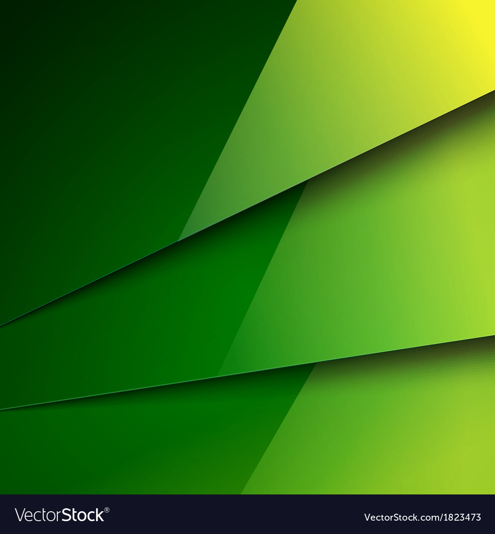 Abstract background with green metal layers vector | Price: 1 Credit (USD $1)