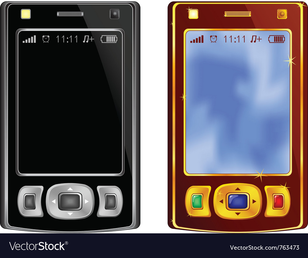Abstract mobile phones black and vinous vector | Price: 1 Credit (USD $1)