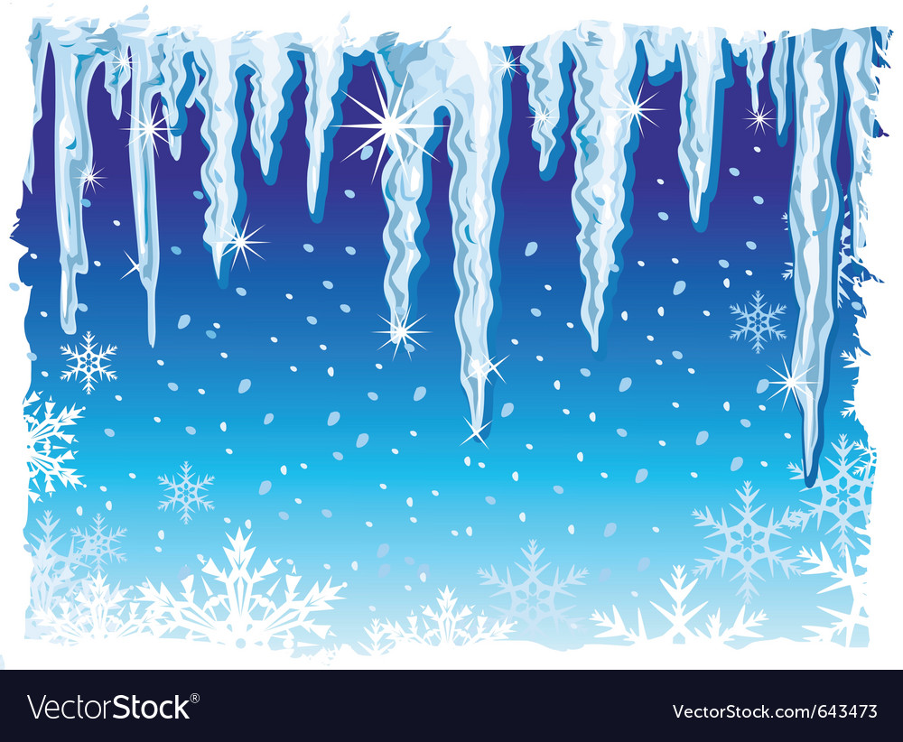Background with icicle vector | Price: 1 Credit (USD $1)