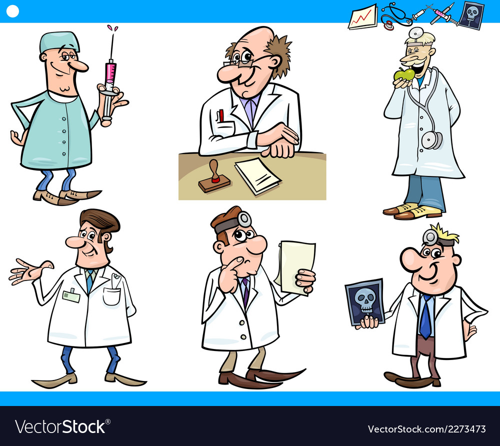 Cartoon medical staff characters set vector | Price: 1 Credit (USD $1)