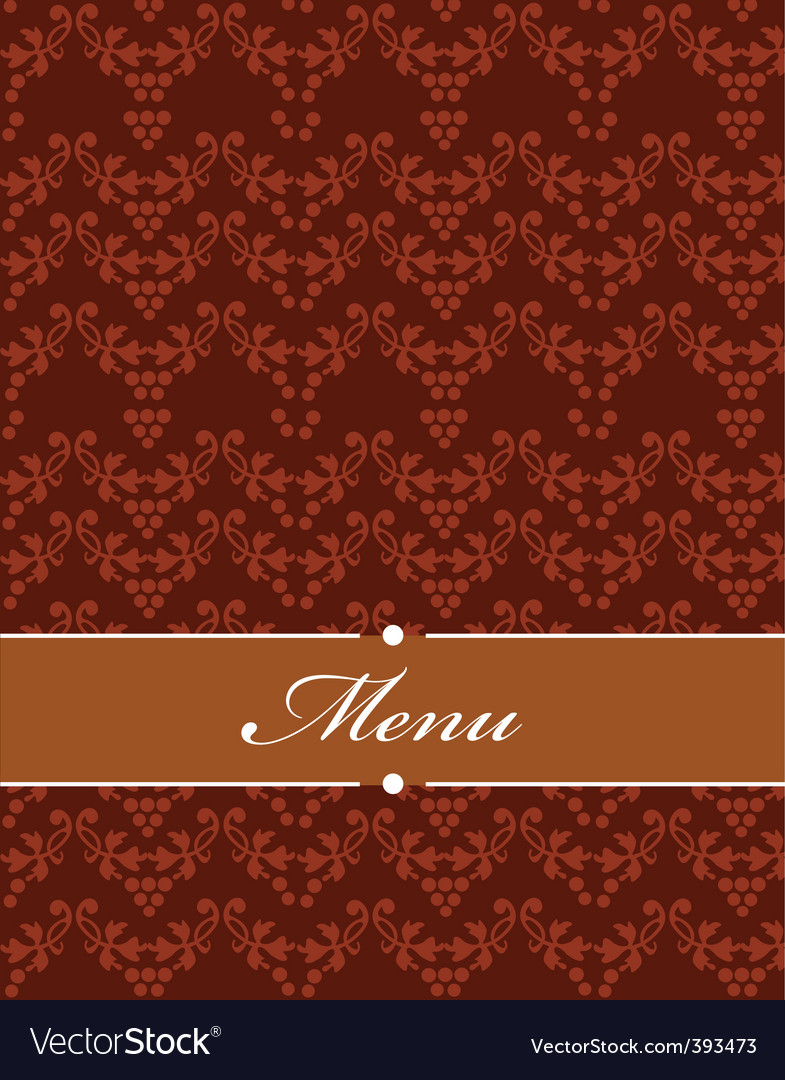 Floral filigree menu vector | Price: 1 Credit (USD $1)