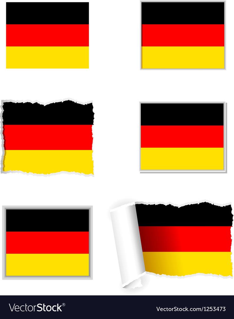 Germany flag set vector | Price: 1 Credit (USD $1)